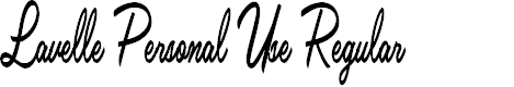 Preview image for Lavelle Personal Use Regular Font