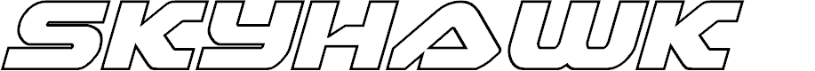 Preview image for Skyhawk Outline Italic