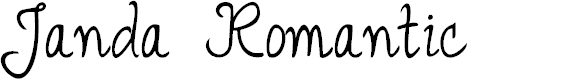 Preview image for Janda Romantic Font