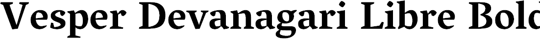 Preview image for Vesper Devanagari Libre Bold
