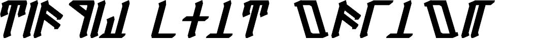 Preview image for Dethek Bold Italic