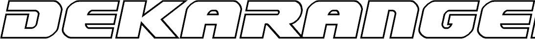 Preview image for Dekaranger Outline Italic