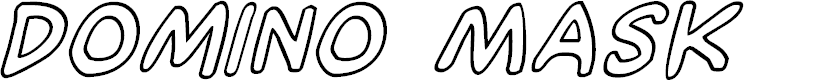 Preview image for Domino Mask Outline Italic