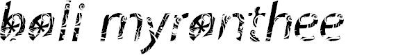 Preview image for FTFBaliMyrantheeFREE-Italic