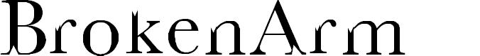 Preview image for BrokenArm Font