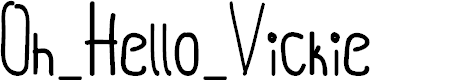Preview image for Oh_Hello_Vickie Font