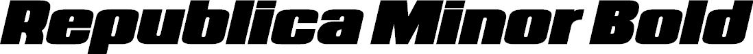 Preview image for Republica Minor Bold Italic