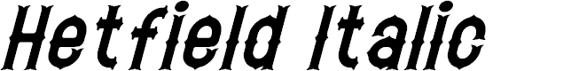 Preview image for Hetfield Italic