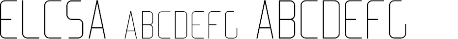 Preview image for Elcsa Font