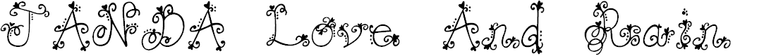 Preview image for JANDA Love And Rain Font