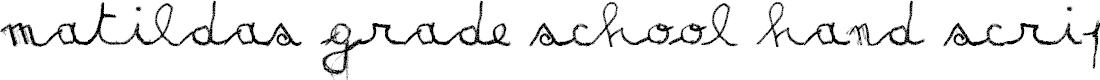 Preview image for MATILDAS GRADE_script-demo Font