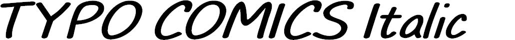 Preview image for TYPO COMICS Italic DEMO Font