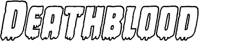 Preview image for Deathblood Bold Outline Italic