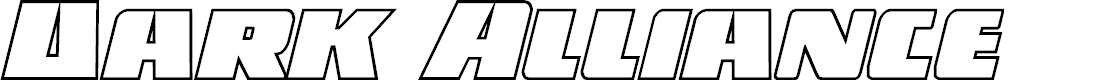 Preview image for Dark Alliance Outline Italic