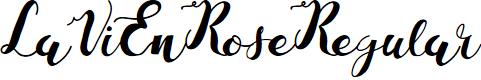 Preview image for LaViEnRose-Regular Font