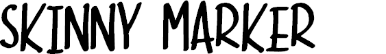 Preview image for Skinny Marker Font