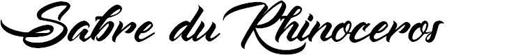 Preview image for Sabre du Rhinoceros Font