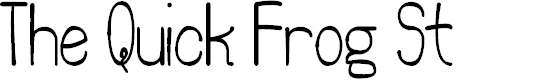 Preview image for The Quick Frog St Font