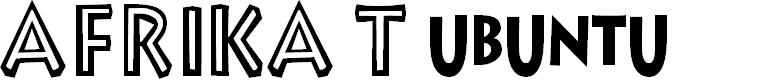 Preview image for Afrika T Ubuntu Font