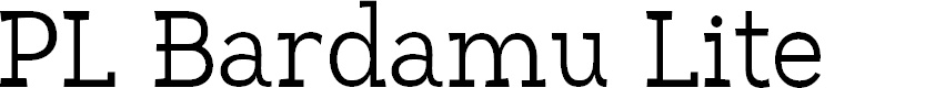 Preview image for PL Bardamu Lite Font