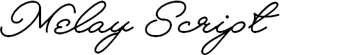 Preview image for Melay Script PERSONAL USE Font