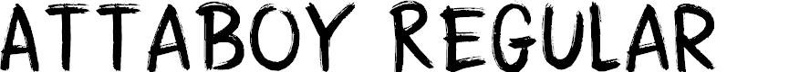 Preview image for DK Attaboy Regular Font