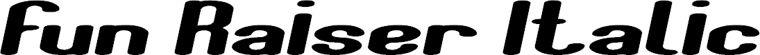 Preview image for Fun Raiser Italic