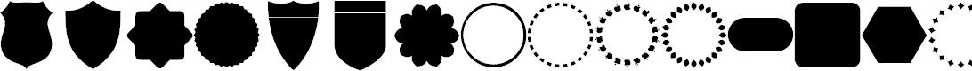 Preview image for frames Font