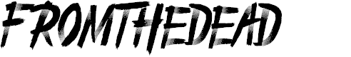 Preview image for From_the_Dead Font
