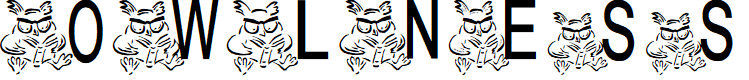 Preview image for AEZ owlness Font