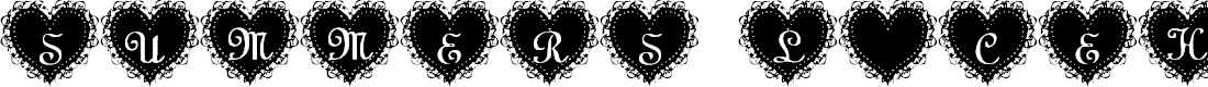 Preview image for Summer's LaceHearts Font