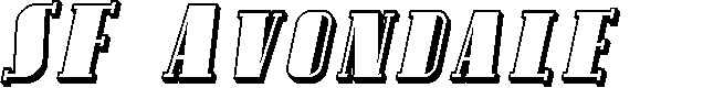 Preview image for SF Avondale SC Shaded Italic
