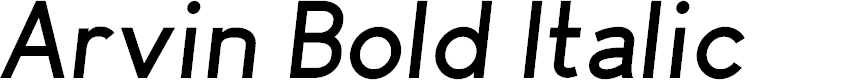Preview image for Arvin Bold Italic
