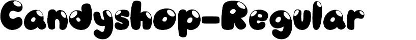 Preview image for Candyshop-Regular Font