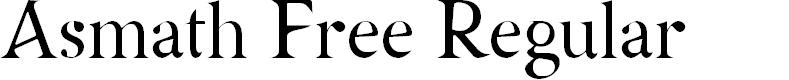 Preview image for Asmath Free Regular Font