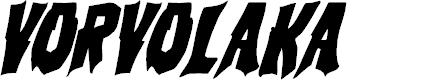 Preview image for Vorvolaka Condensed Italic