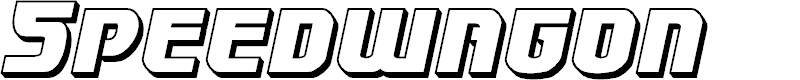 Preview image for Speedwagon 3D Italic