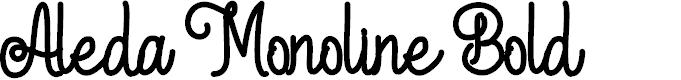 Preview image for Aleda Monoline Bold
