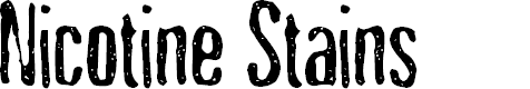 Preview image for Nicotine Stains Font