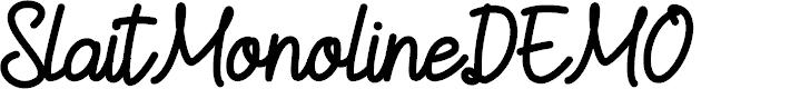 Preview image for SlaitMonolineDEMO Font