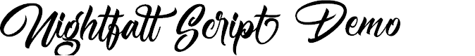Preview image for Nightfall Demo Font