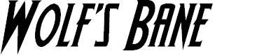 Preview image for Wolf's Bane Italic