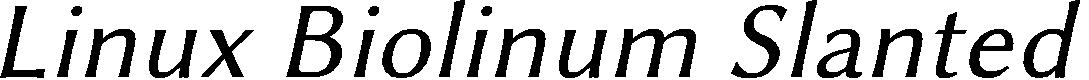 Preview image for Linux Biolinum Slanted