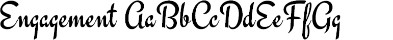 Preview image for Engagement Font