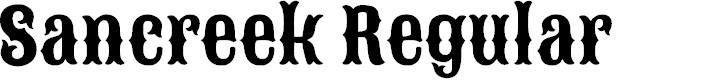 Preview image for Sancreek Regular Font