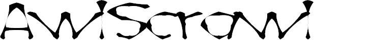 Preview image for AwlScrawl Font
