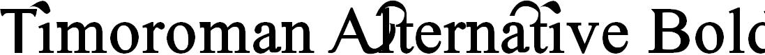 Preview image for Timoroman Alternative Bold