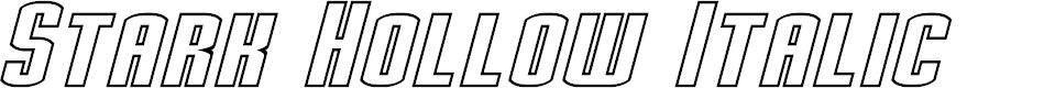 Preview image for Stark Hollow Italic