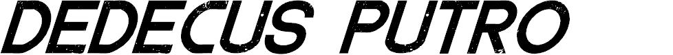 Preview image for DedecusPutro-Italic Font