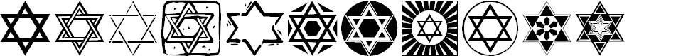 Preview image for SL Star of David Font